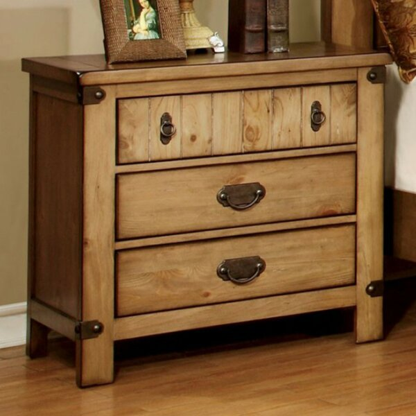 Ilyan 3 Drawer Nightstand by August Grove