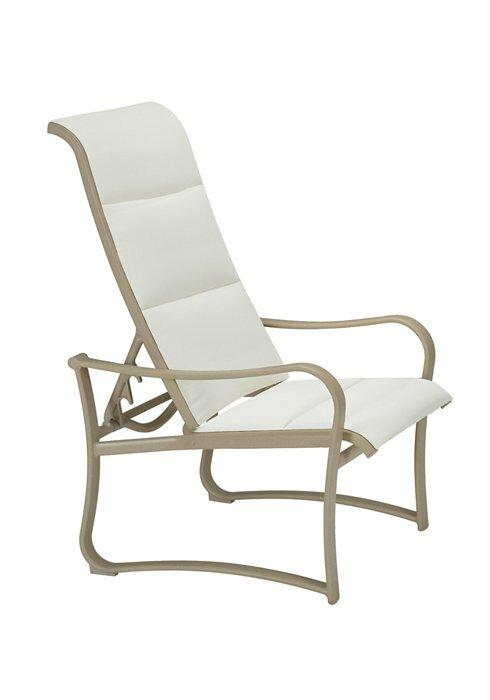 Marvelous Shoreline Padded Sling Recliner Patio Chair Evergreenethics Interior Chair Design Evergreenethicsorg