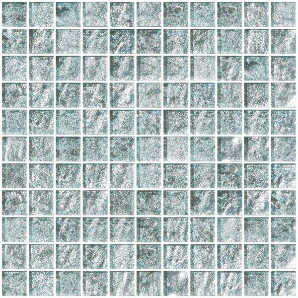 1 x 1 Glass Mosaic Tile in White Gold by Susan Jablon