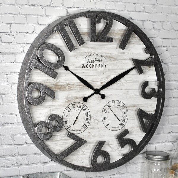 Shiplap 18 Wall Clock by FirsTime