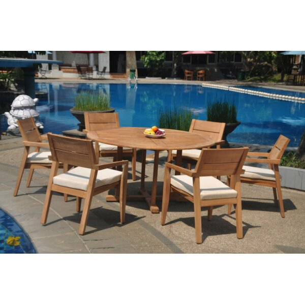 Encanto 7 Piece Teak Dining Set by Rosecliff Heights