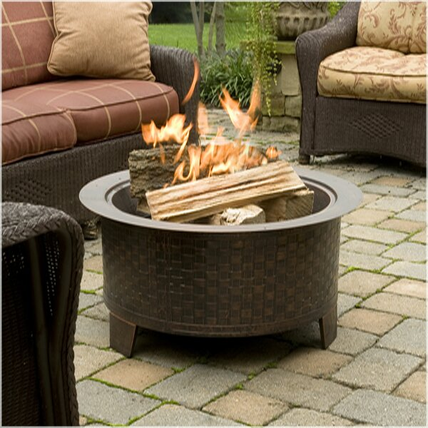 Woven Cast Iron Wood Burning Fire Pit by CobraCo