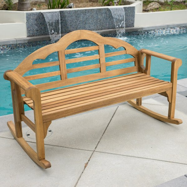 Newington Acacia Rocking Bench by August Grove