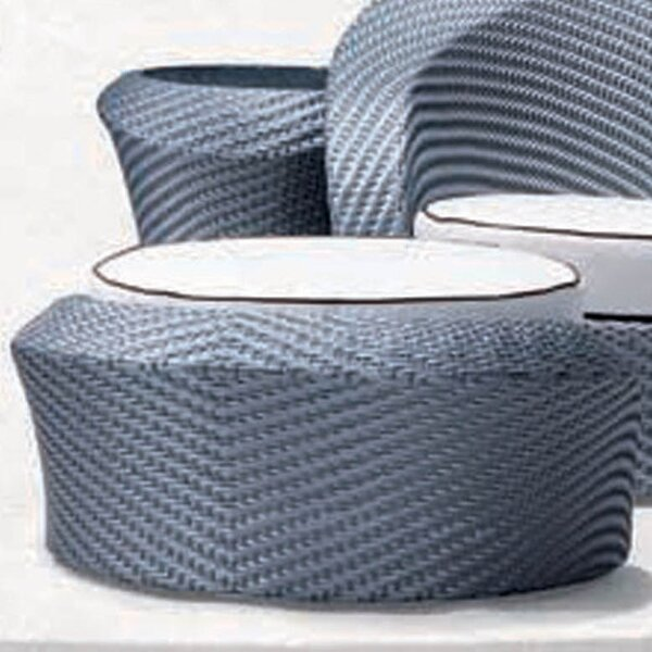 Eclipse Foot Stool with Cushion by 100 Essentials