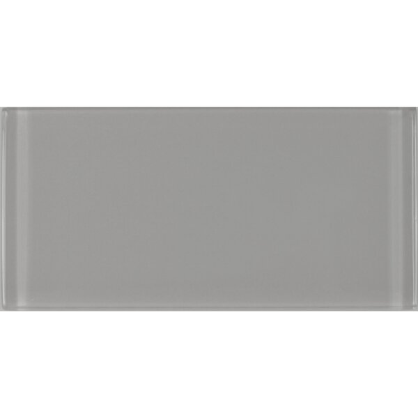 Metro 3 x 6 Glass Subway Tile in Gray by Abolos