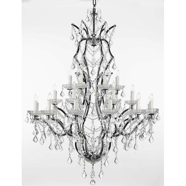 Alvan 25-Light Candle Style Tiered Chandelier by Astoria Grand Astoria Grand