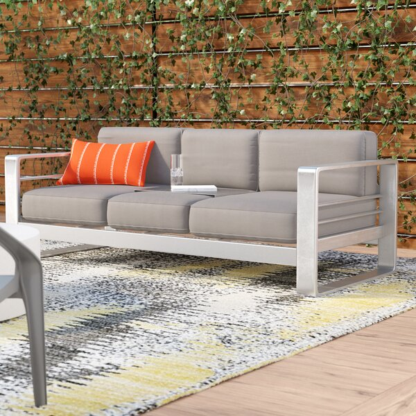 Royalston Patio Sofa with Cushions by Brayden Studio