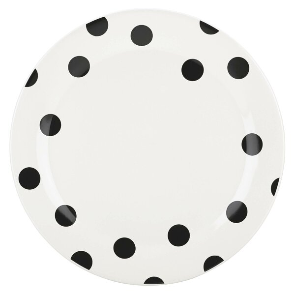 All in Good Taste Deco Dot Dinner Plate by kate spade new york