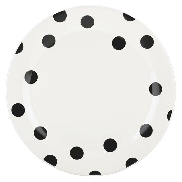 All in Good Taste Deco Dot Dinner Plate by kate sp