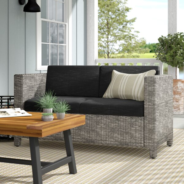 Furst Outdoor Loveseat With Cushions By Wade Logan