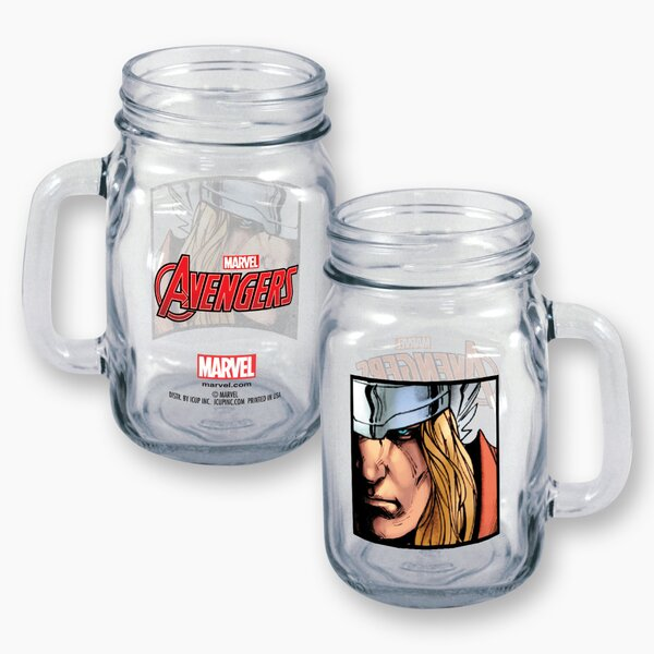 Marvel Thor Close Up 16 oz. Mason Jar by ICUP Inc