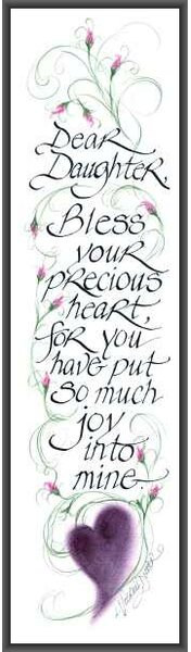 Dear Daughter by Lori Voskuil-Dutter Framed Textual Art by LPG Greetings