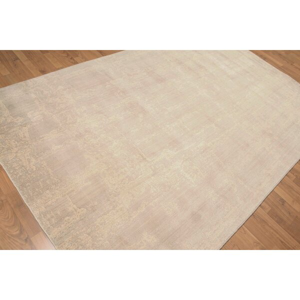 One-of-a-Kind Propst Hand-Knotted Wool Tan Area Rug by Bloomsbury Market