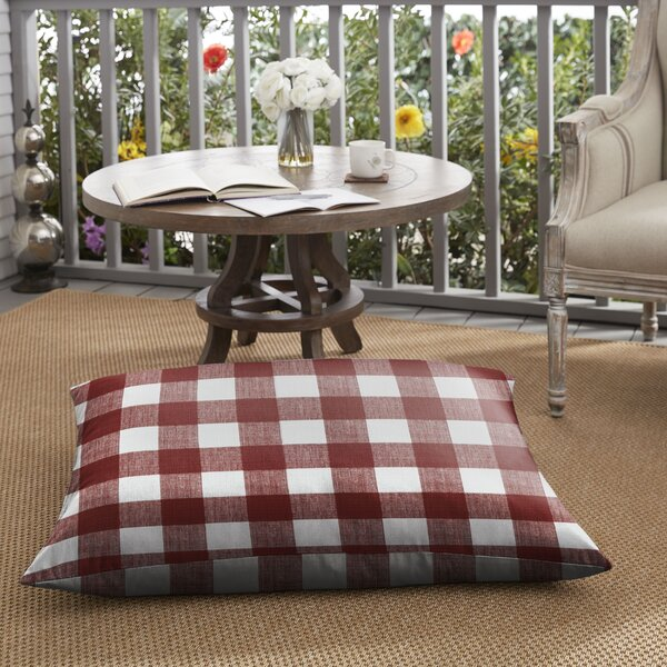 Bagely Buffalo Outdoor Floor Pillow by Mozaic Company