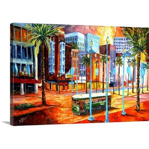 'New Orleans'Canal Street' by Diane Millsap Painting Print on Canvas by Canvas On Demand