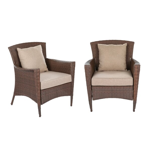 Beamer Patio Chair with Cushions (Set of 2) by Bloomsbury Market