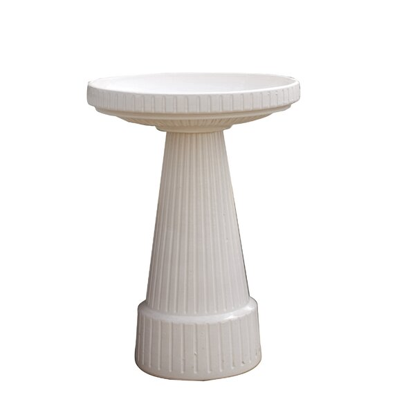 Burley Clay Glazed Universal Birdbath by Birds Choice