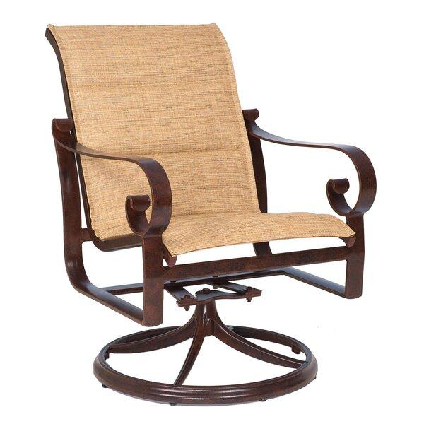 Belden Rocker Swivel Patio Dining Chair (Set of 2) by Woodard
