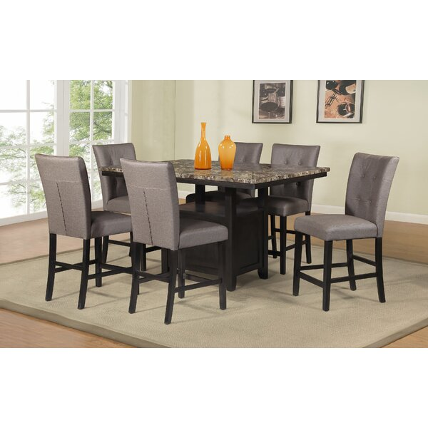 Thole 7 Piece Counter Height Dining Set by Red Barrel Studio