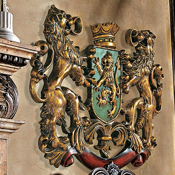 Design Toscano Heraldic Royal Lions Coat Of Arms Wall