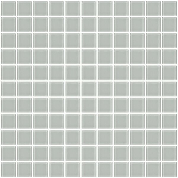 1 Light Gray Glass Tile (Set of 2) by Susan Jablon