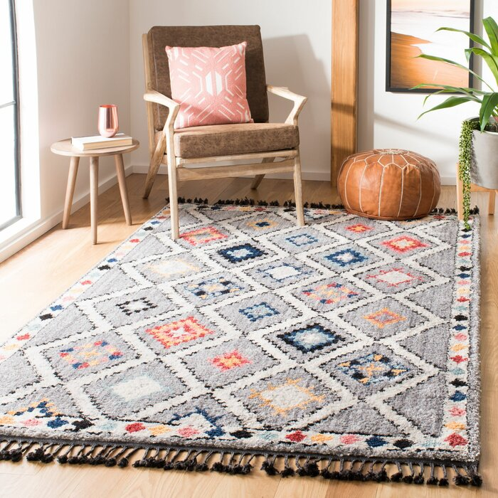 Bungalow Rose Robichaux Gray Area Rug