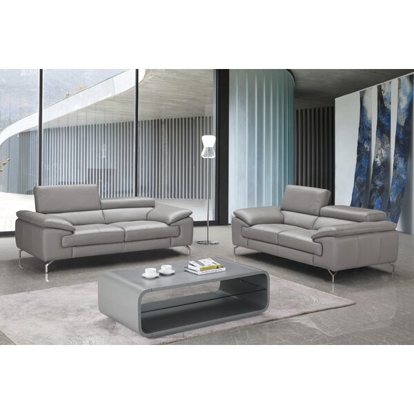 Mayer Leather Configurable Living Room Set by Orren Ellis