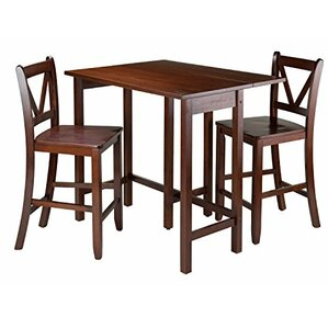Lynnwood 3 Piece Counter Height Pub Table Set by Luxury Home