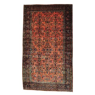 One-of-a-Kind Emrick Persian Maharajan Sarouk Hand-Knotted Pink Area Rug
