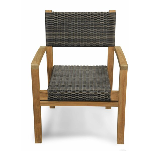 Lerwick Stacking Teak Patio Dining Chair by Canora Grey Canora Grey