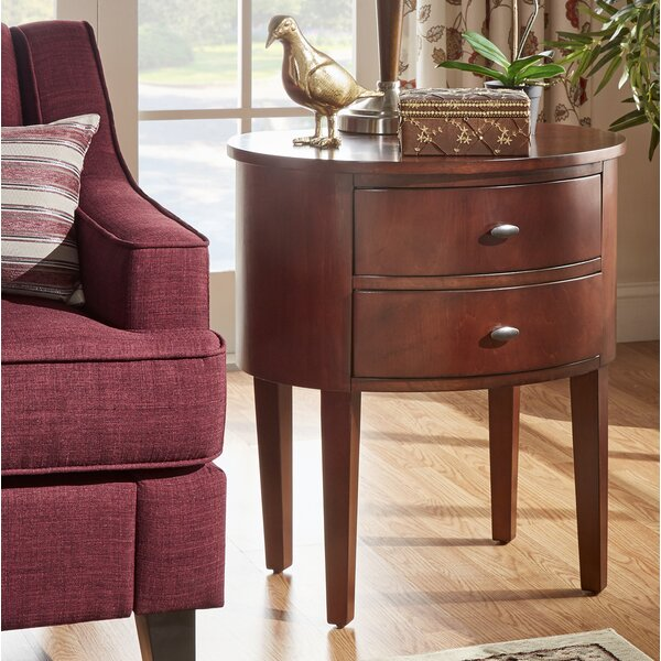 Canterbury End Table With Storage  by Three Posts