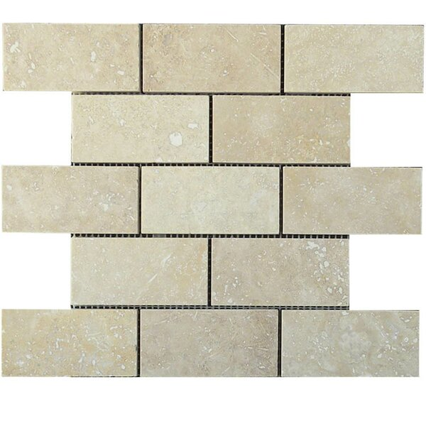 Honed 2 x 4 Natural Stone Mosaic Tile in Walnut by QDI Surfaces