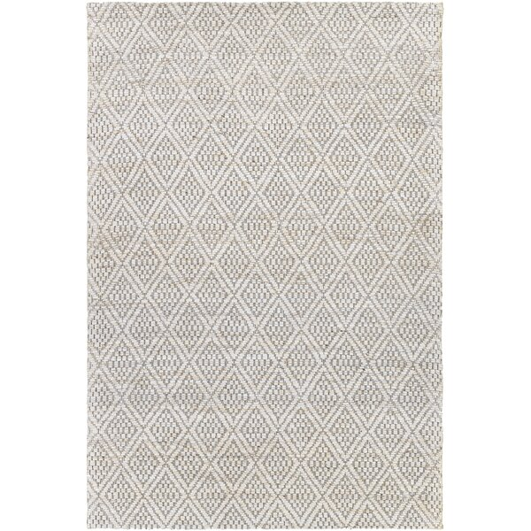 Corrigan Studio Winthrop Geometric Handmade Flatweave Jute Cream Medium Gray Area Rug Wayfair