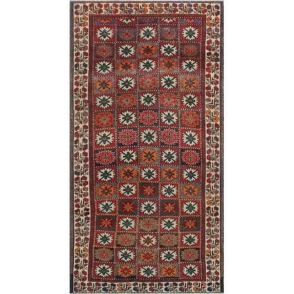 One-Of-A-Kind Brook Hand-Knotted Wool Red Area Rug by Isabelline