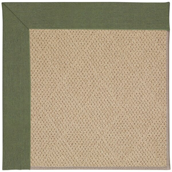 Lisle Machine Tufted Plant Green and Beige Indoor/Outdoor Area Rug by Longshore Tides