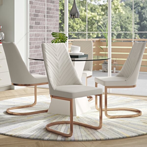 Rathjen Parsons Upholstered Dining Chair (Set of 4) by Brayden Studio