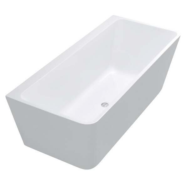 Strait Series 67'' x 30.7'' Freestanding Soaking Bathtub by ANZZI