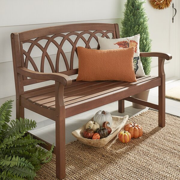 Brook Hollow Wooden Garden Bench by Three Posts