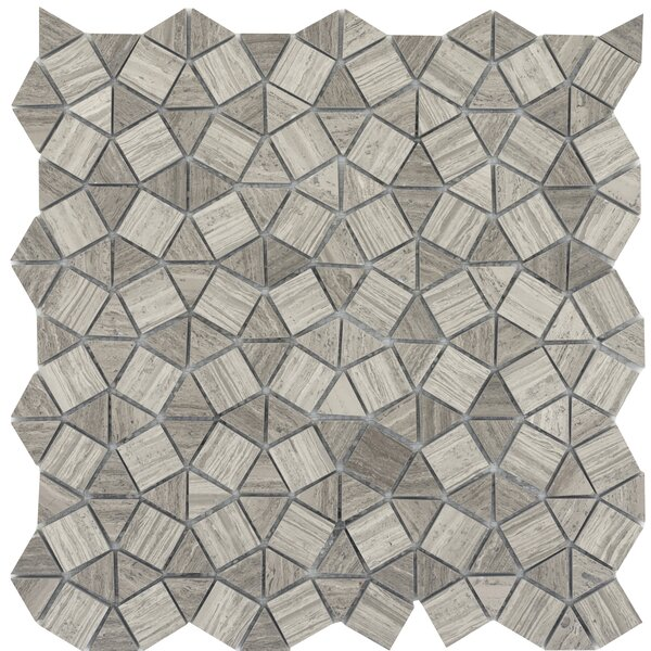 Metro Gem 1 x 1 Marble Mosaic Tile in Gray by Emser Tile
