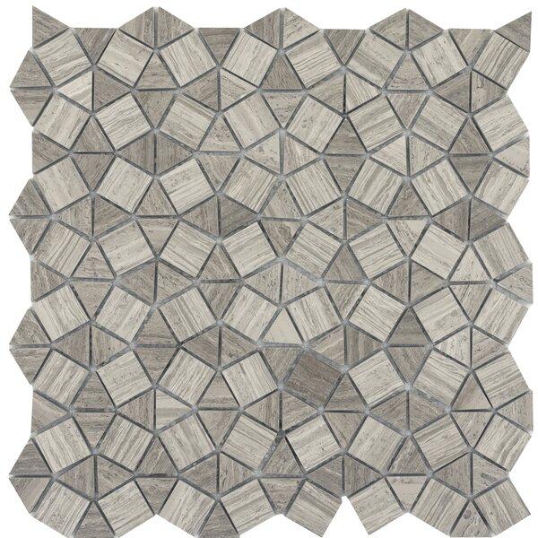 Metro Gem 1 x 1 Marble Mosaic Tile in Gray by Emser Tile