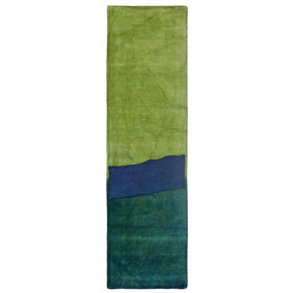 Mullican Hand-Tufted Wool Blue/Green Area Rug by Latitude Run