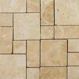 Trav Ancient Tumbled 12 x 12 Travertine Mosaic Tile