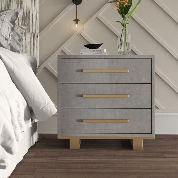 Dahle 3 Drawer Nightstand by Mercury Row