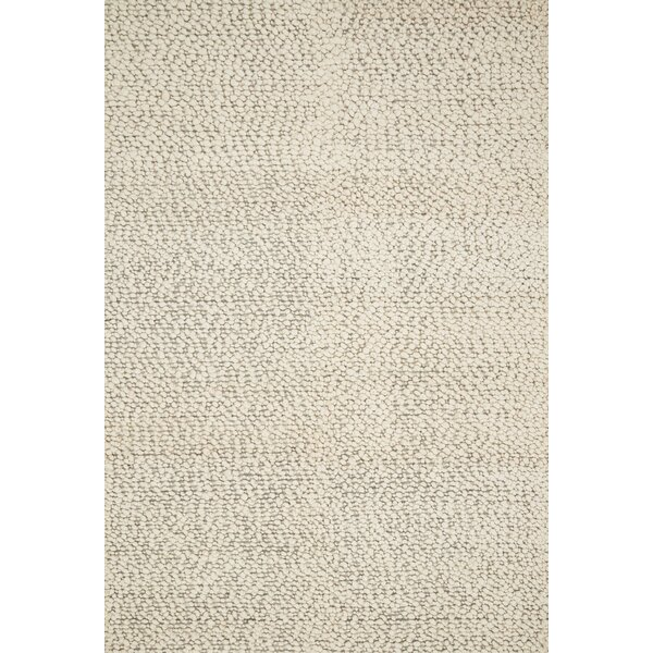 Francine Hand Woven Wool Ivory Area Rug by Gracie Oaks
