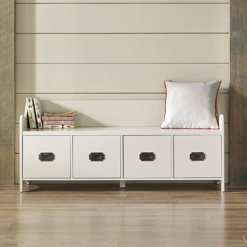 Bedroom Storage Bench With Drawers Bedroom Apartment Platform Bed Bedroom Ideas Bedroom Decorating Ideas Black And Grey: Edwards 4-Drawer Storage Bench & Reviews