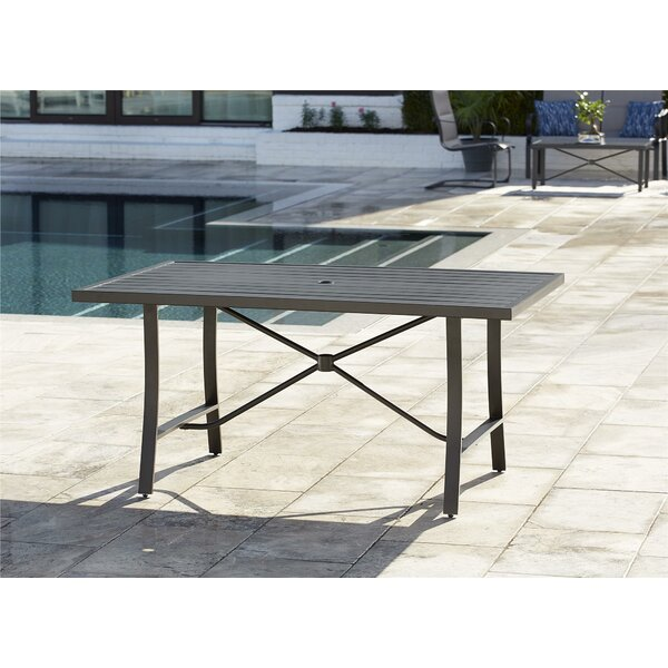 Coyle Tool-Free Outdoor Metal Dining Table by Red Barrel Studio