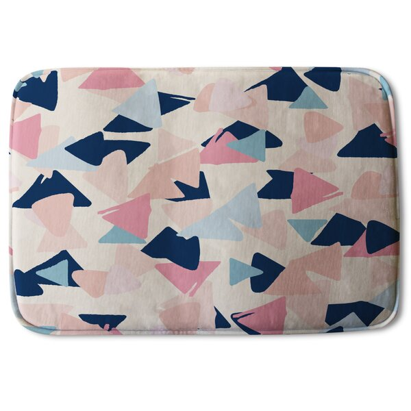 Anea Pastel Triangles Designer Bath Rug