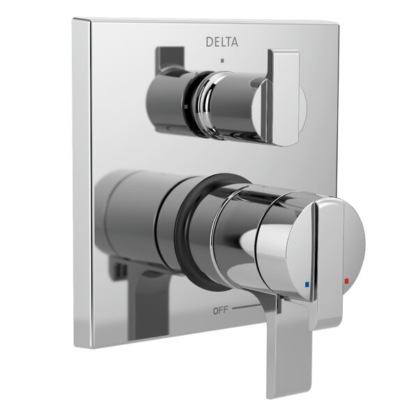 Ara Pressure Balance 17T Series Valve Trim with Double Lever Handle by Delta