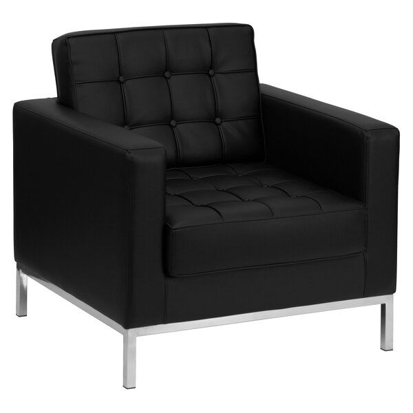 Pyron Contemporary Leather Lounge Chair by Latitude Run