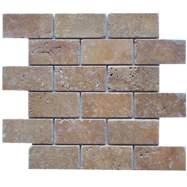 2 x 4 Mosaic Tile in Noche by Ephesus Stones